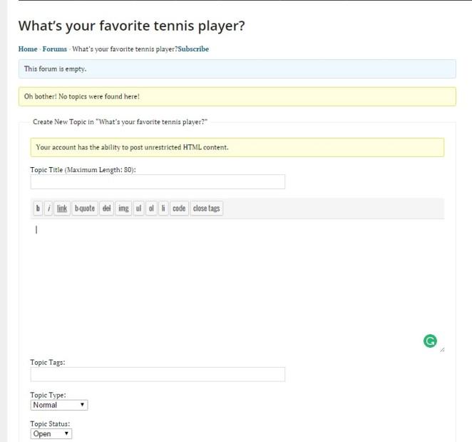 forum example